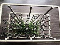 Glas Strohhalme nach dem Spülgang