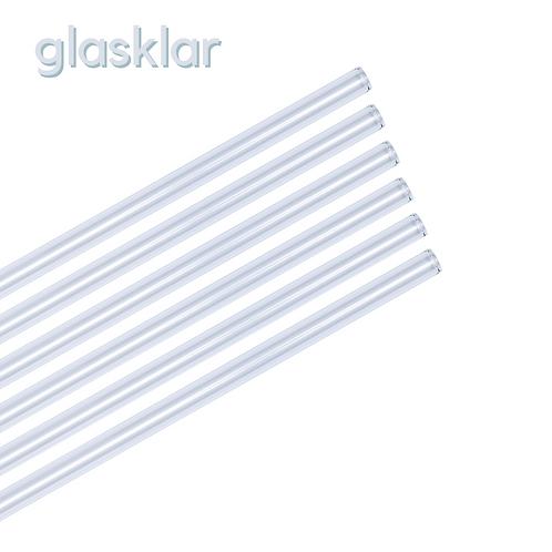 Glas Strohhalm - 21er Party Set - glasklar