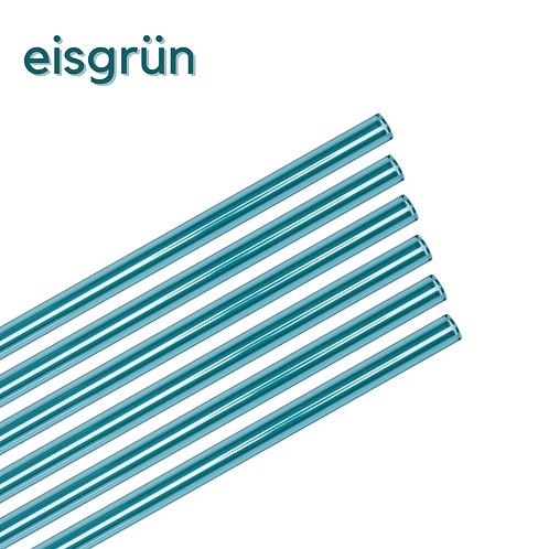 Glas Strohhalm - 11er Family Set - grasgrün