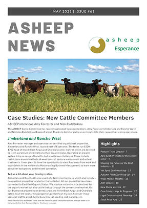 ASHEEP May Newsletter