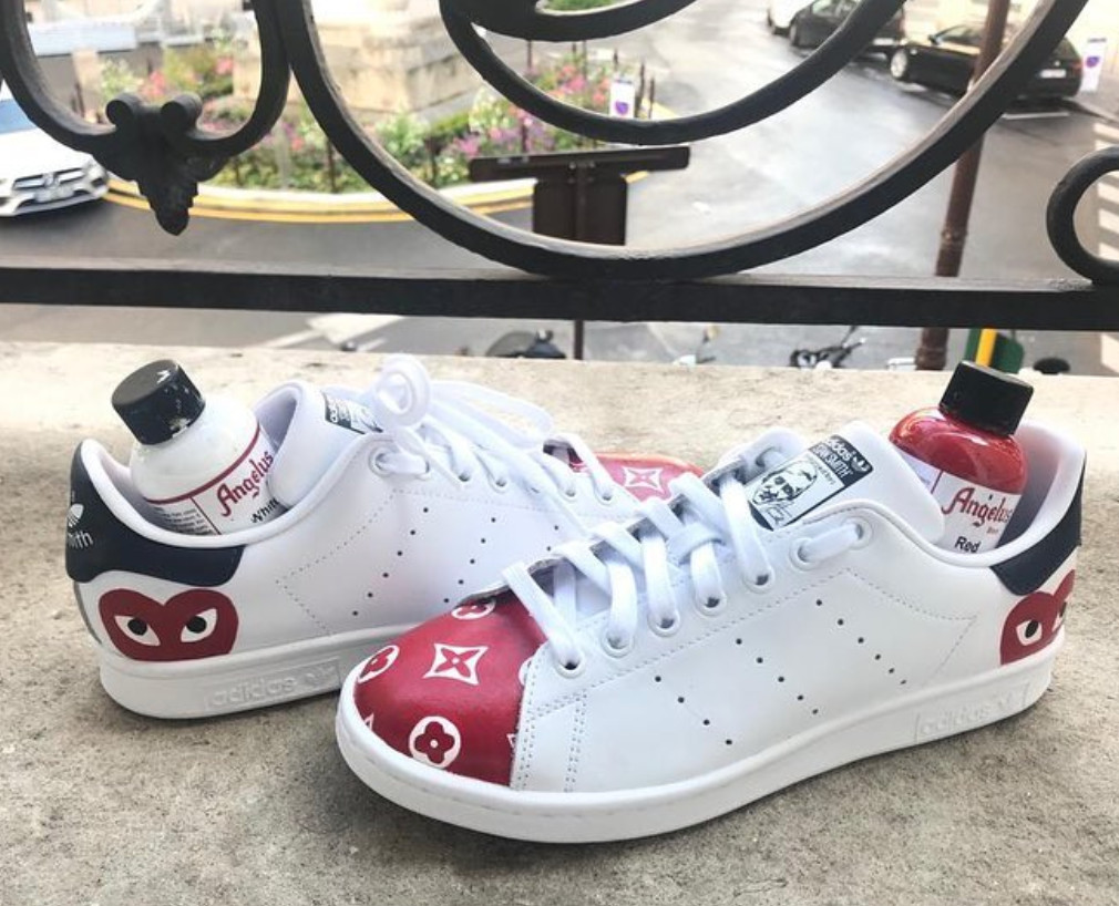 low priced e7af0 05497 Custom Stan Smith - Louis Vuitton x Comme des Garçons