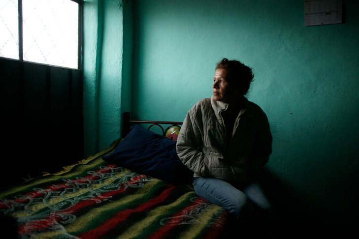Jane is one of an estimated 250,000 Colombian refugees living in Ecuador. a single mother of 3 children.