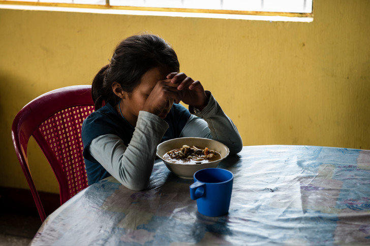 The youngest resident at the Hogar is an orphan and has been living there with her sister since she was very young.