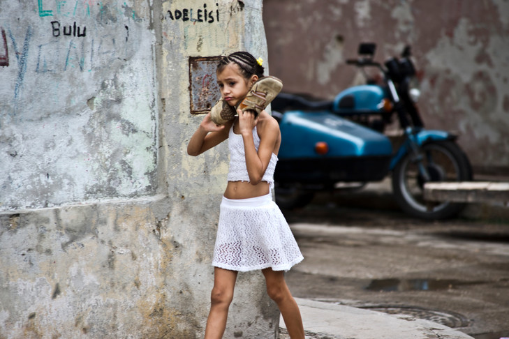 Girl with Shoes