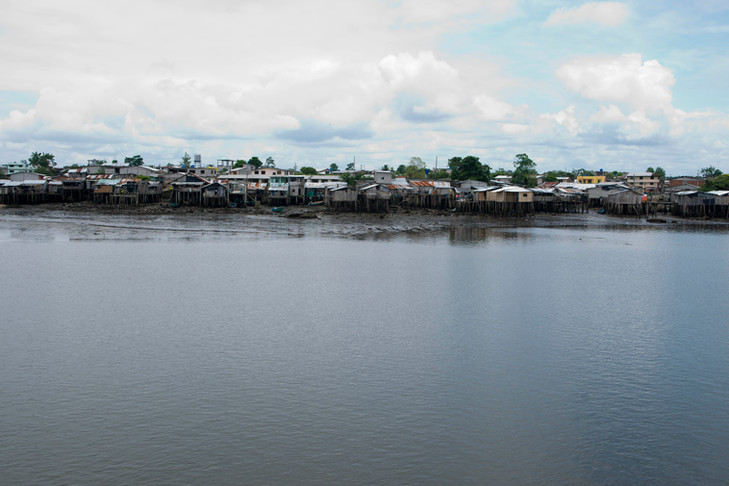 Many Colombians refugees enter Ecuador at the small port of San Lorenzo, a northern coastal town in the province of Esmeraldas.