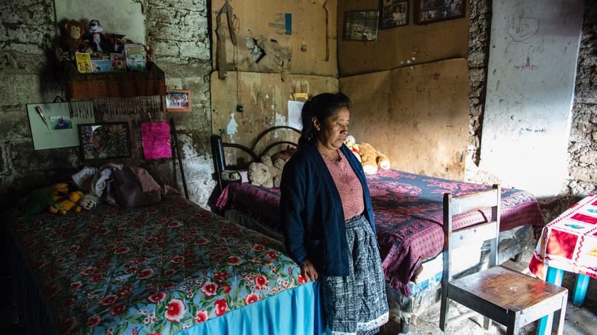 The home of 2 of the children at the school. this home has no running water or electricity.
