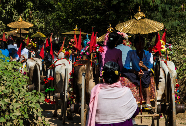 We were told by the locals that this procession celebrates children's entrance to Buddhism.