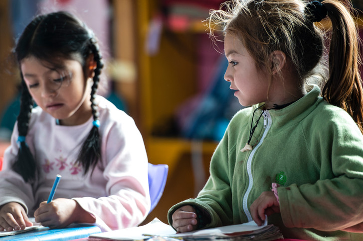 "Children at the ""Escuela de la calle"" school (Edelac)"