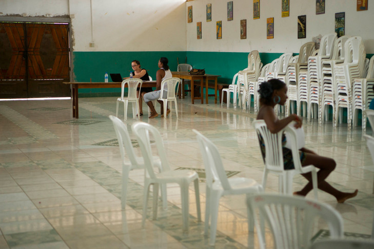 A young woman waiting her turn for legal consult
