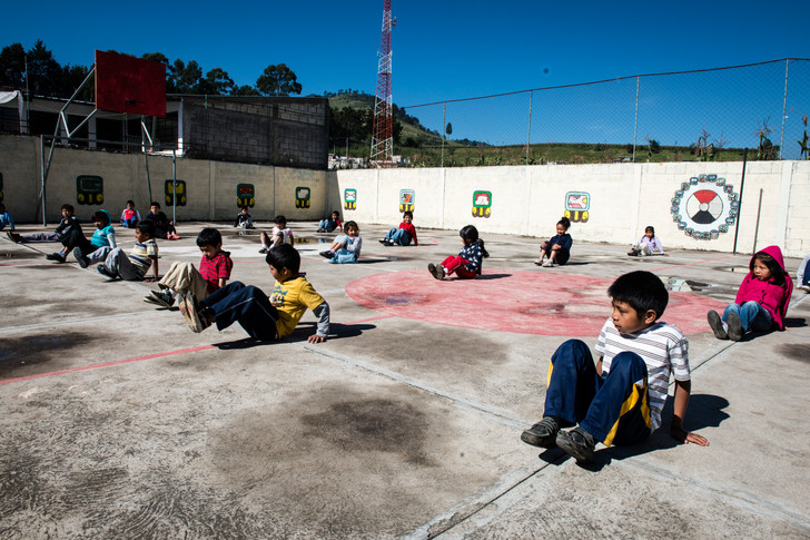 Gym class at Edelac