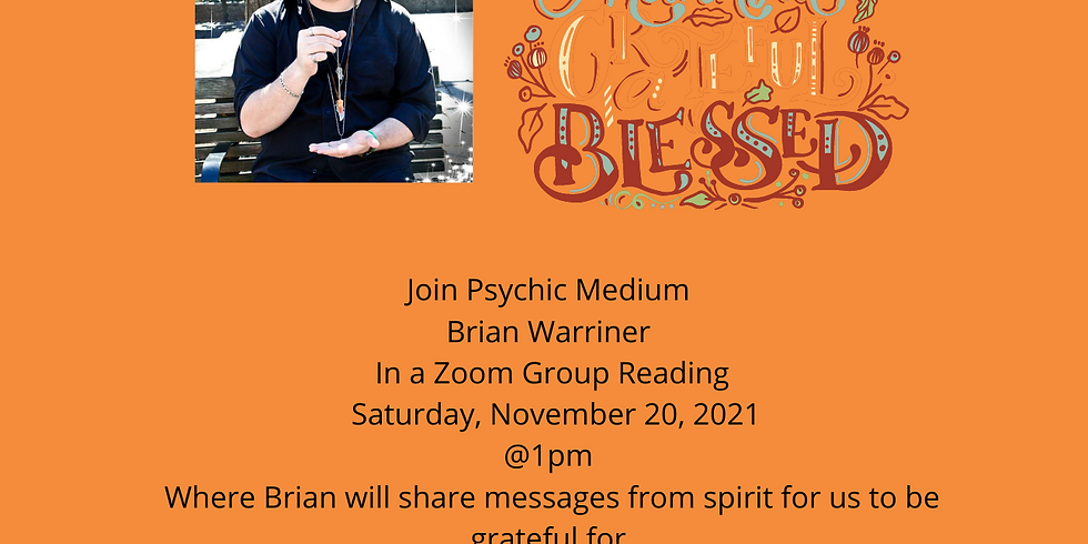 Virtual Event: Messages to Be Thankful For