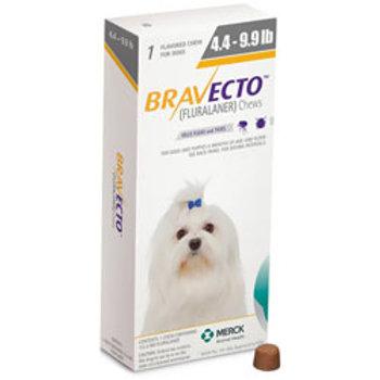 Bravecto Dogs 4.4-10lbs