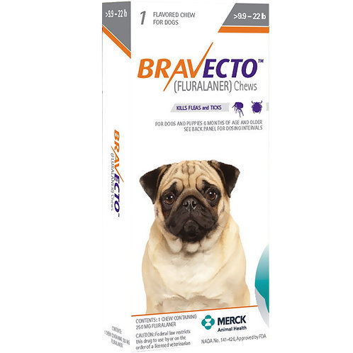 Bravecto Dogs 10-22lbs