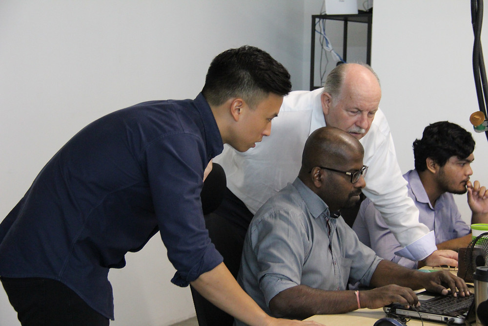 Zac Liew and Steve Kucia at Curlec office working