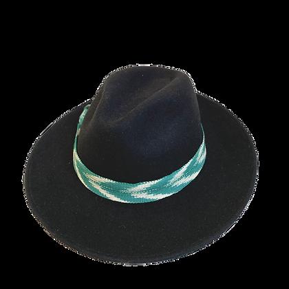 Sombrero Lana Ikat turquesa