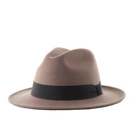 Sombrero Fedora Lana Gris