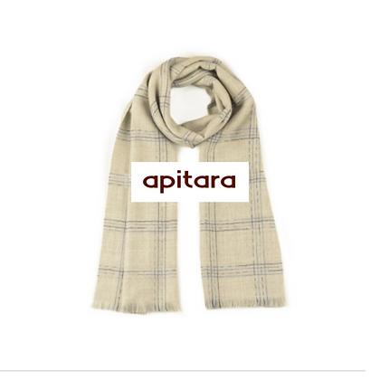 Bufanda Premium baby alpaca | Beige suave