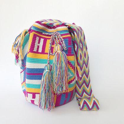Bolso Wayuu Colombiano | Diseño rosa