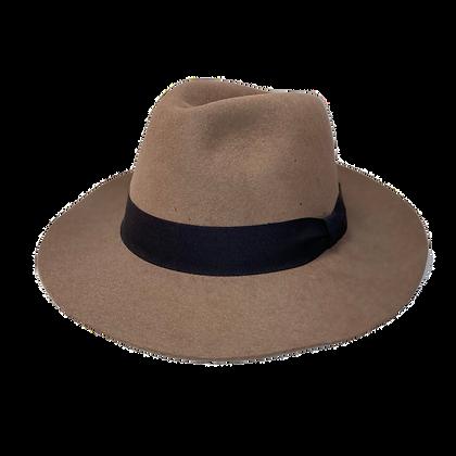 Sombrero Fedora lana taupe