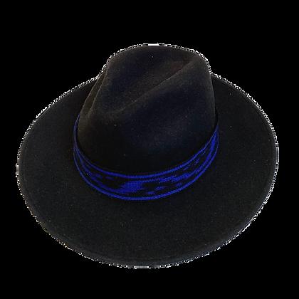 Sombrero Lana Ikat azul