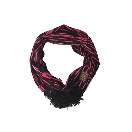 Bufanda ikat rosa