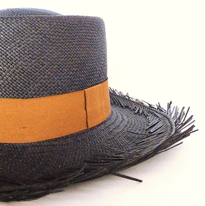 Panama Hat Gambler Deshilado | Azul Marino