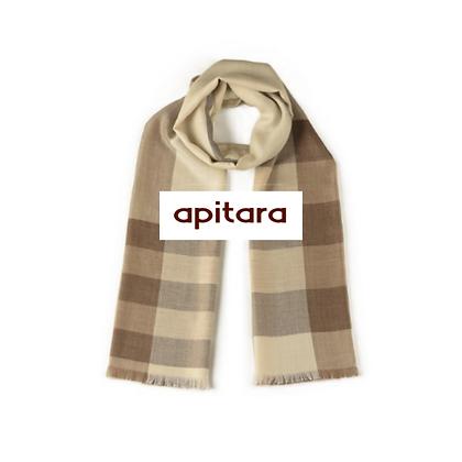 Bufanda baby alpaca y seda   Beige diseño