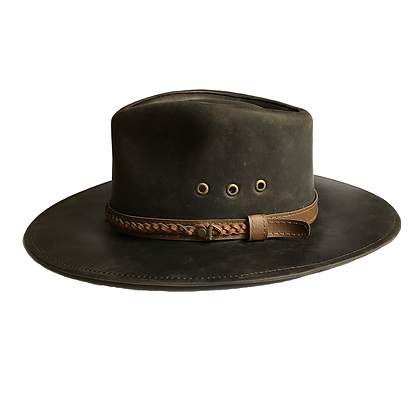 Sombrero cuero encerado