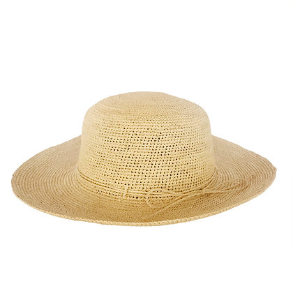 Sombrero Mujer Enrollable Beige