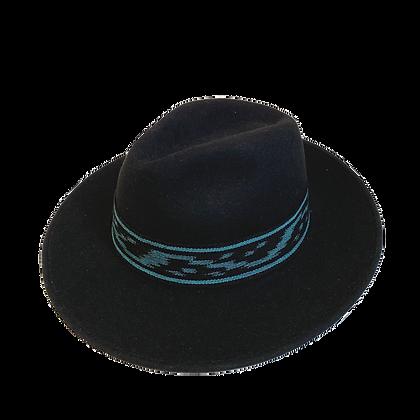 Sombrero Lana Ikat azulino