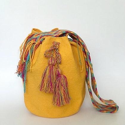 Bolso Wayuu Colombiano | Amarillo