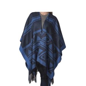 Capa baby alpaca diseño | Azul oscuro