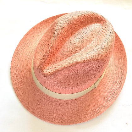 Panama Hat Fedora Rosado