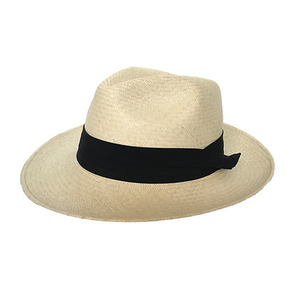 Panama Hat Beige Plisado
