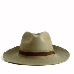 Sombrero paño hombre tabaco