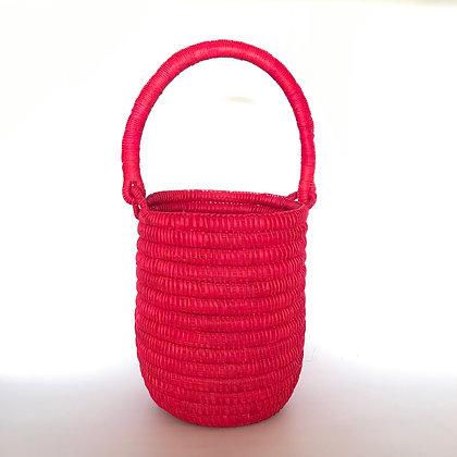 Bolso mini paja toquilla rojo
