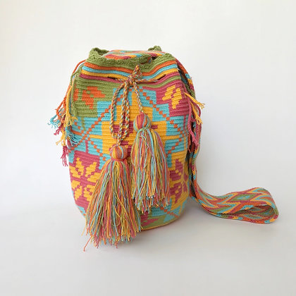 Bolso Wayuu Colombiano   Diseño Coral