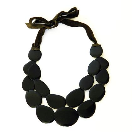 Collar Tagua negro (cuero)