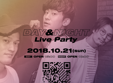 2018/10/21(Sun)『THREE1989 Day & Night Live Party 2018』at KOBE troopcafa