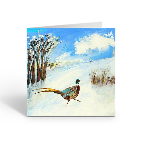 WHOLESALE PACK OF 6 Pheasant in the Snow - Z089
