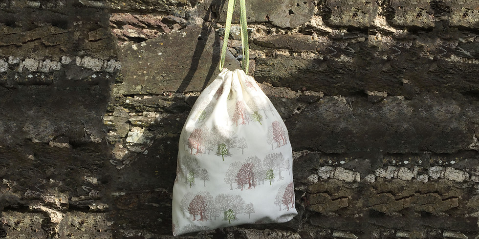 Block Print Linen Bag