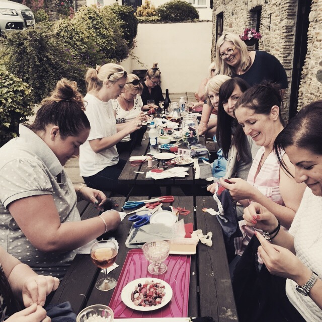 Hen party - decorating knickers