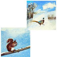 WHOLESALE PACK OF Squirrel/Pheasant- PZ902 (3)
