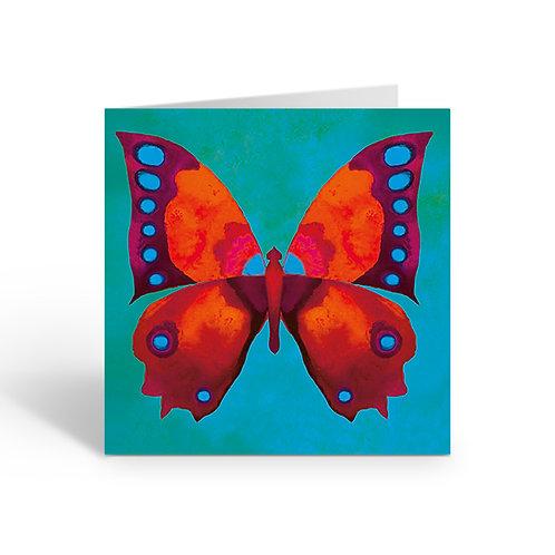 WHOLESALE PACK OF 6 Orange/blue Butterfly - J007