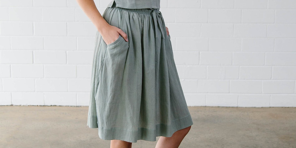 """Purple """"B"""" Sewing Classes - Lawley Skirt (2 sessions) 9th & 16th April"""