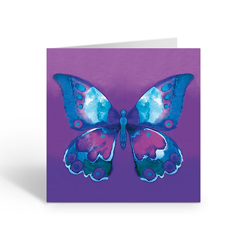 Purple Butterfly - card