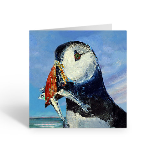 Puffin by the Sea - card