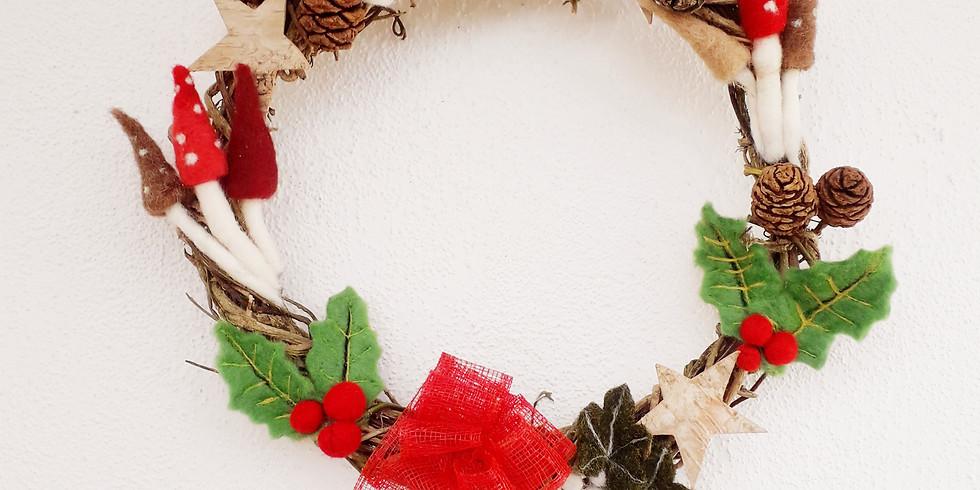 Felted Christmas Wreath