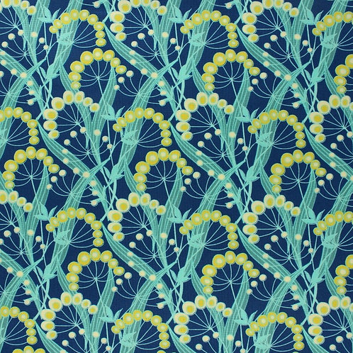 Large Beeswax Wrap - Blue/Yellow