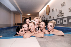 Hen party swimming